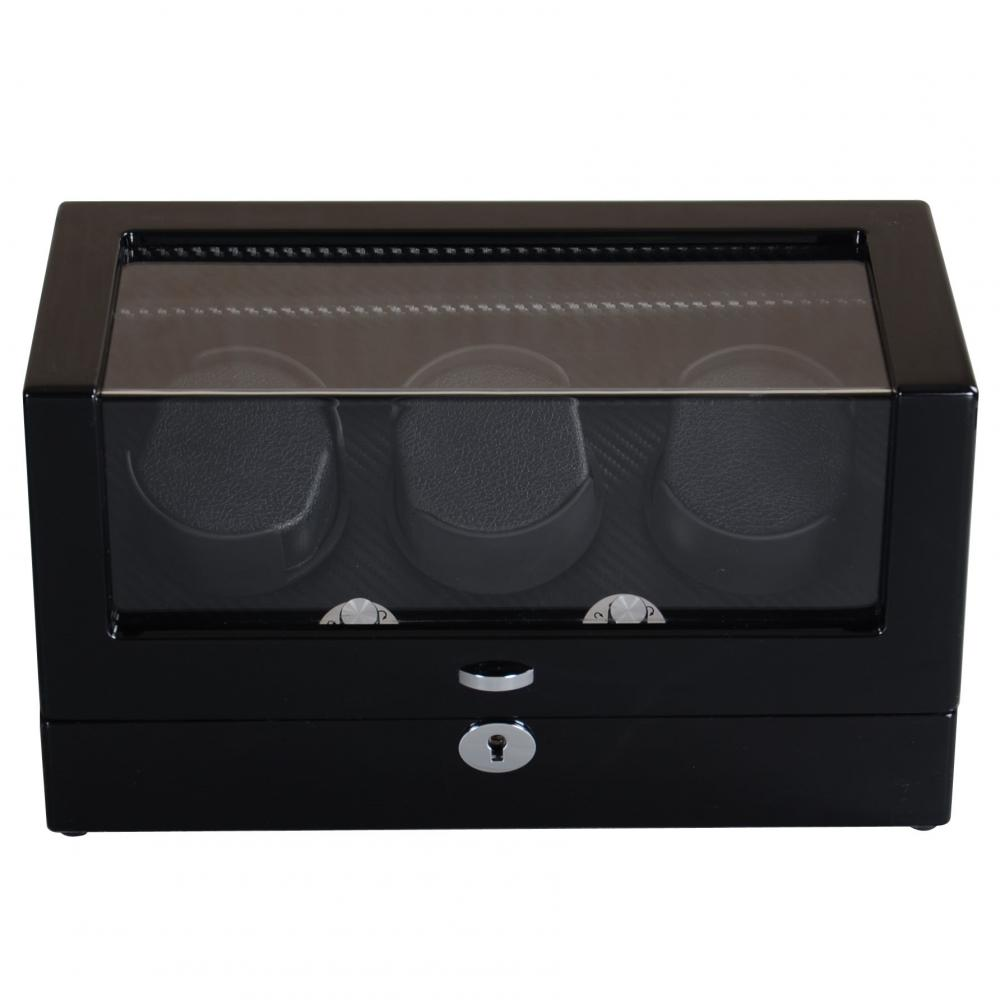 Ww 8098 Ebony Triple Rotors Watch Winder