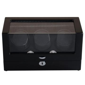 Ebony Triple Rotors Watch Winder