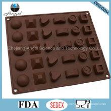 30-cavidad bandeja de hielo de silicona chocolate pudín Jerry molde Si27