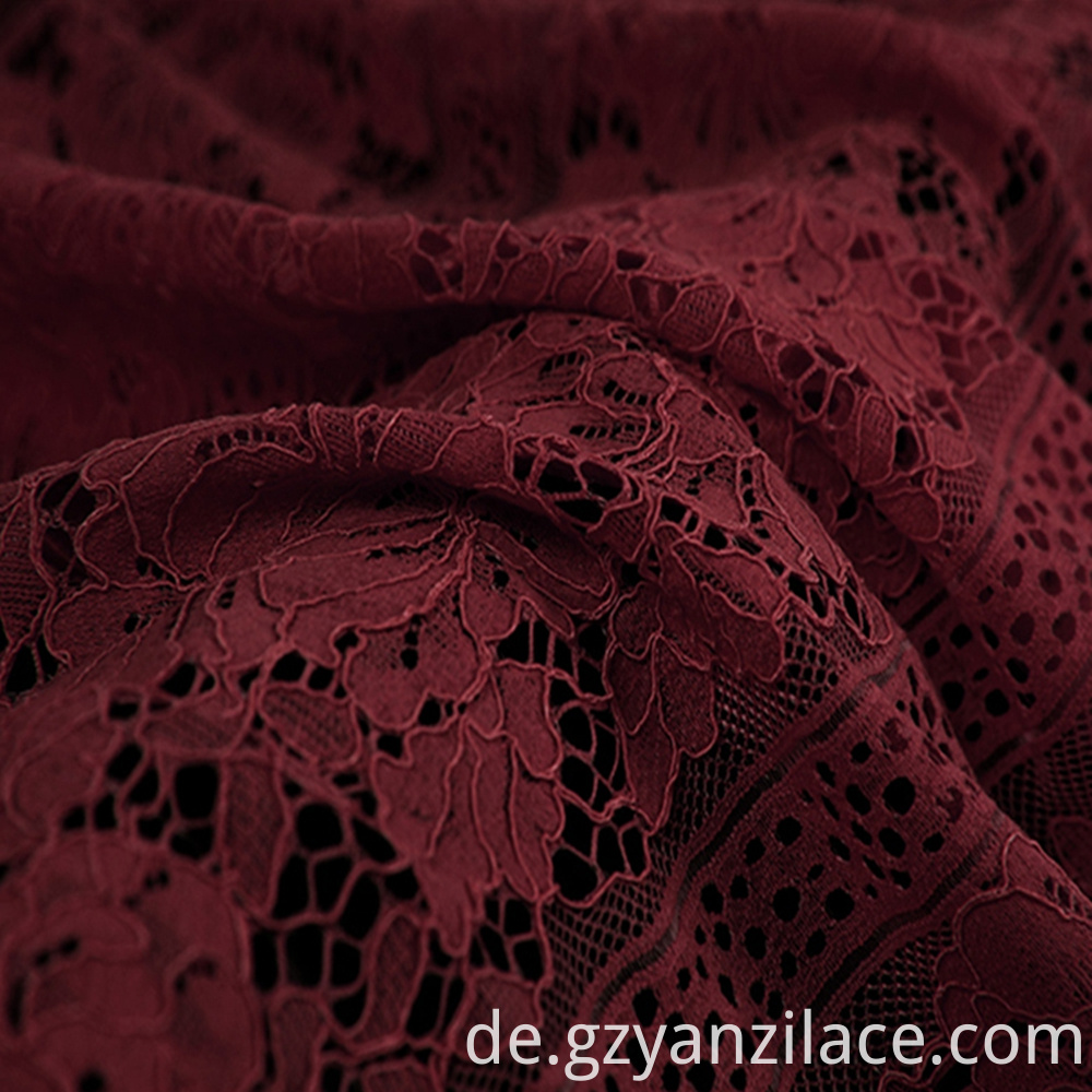 Red Cotton Corded Lace