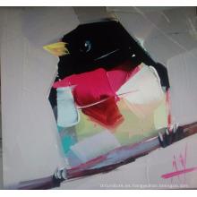 Pintura al óleo del pájaro