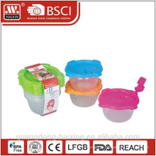 Пластиковый микроволновой продовольствия контейнер 0.14L(6pc)