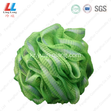 Shinning ribbon bath puff loofah sponge