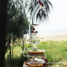 Tubos de agua de fumar de vidrio naranja de diseño más nuevo (ES-GB-296)