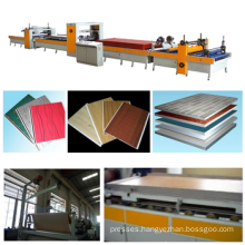 PUR hot melt glue laminate hot press machine/PVC laminate machine