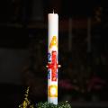 Очень дешевые белые простые свечи с канавками
