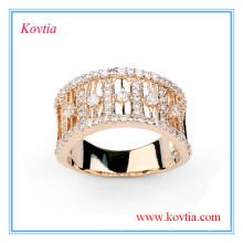 Bague de fiançailles en diamant de luxe anneau large pour hommes