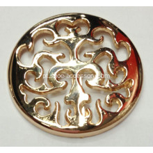 Hollowed-out Flor Padrão Metal Shoe Buckle