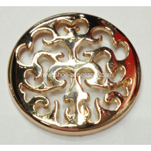Hollowed-out Flower Pattern Metal Shoe Buckle