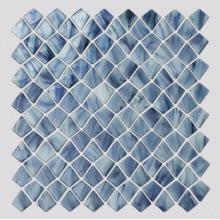 Blue Mosaic Pattern Living Room Square Glass Tile