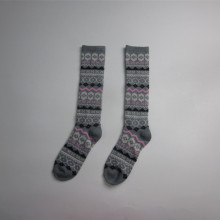 Mode Jacquard lange Winter Socken