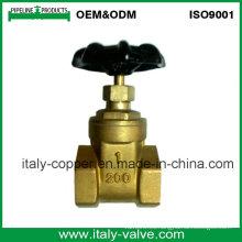 Válvula de compuerta de vástago no ascendente de latón aprobada por el CE (AV4062)