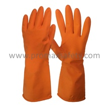 Gant de latex domestique doublé Orange 50g
