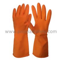 DIP Flocked Orange Haushalt Latex Handschuh