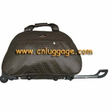 Black Leather Business Trolley Bag