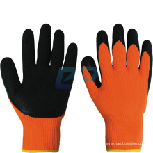 Heavy Duty 7G Acrylic Loop Napping Liner Latex Crinkle Coated Best Winter Work Gloves
