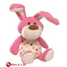 OEM design pink rabbit soft toy