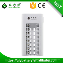 GLE-808 8 SlotsLED UniversalCharger para AA / AAA NI-MH / NI-CD Batería recargable