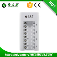 GLE-808 8 SlotsLED UniversalCharger For AA/AAA NI-MH/NI-CD Rechargeable Battery