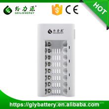 GLE-808 8 SlotsLED UniversalCharger Para Bateria Recarregável AA / AAA NI-MH / NI-CD