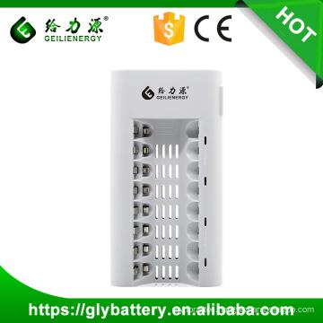 GLE-808 8 SlotsLED UniversalCharger For AA/AAA NI-MH/NI-CD Rechargeable Battery