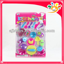 Kids pretend play toy set plastic beautiful dishware set toys