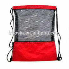Drawstring bags nylon--polyester with lined pocket