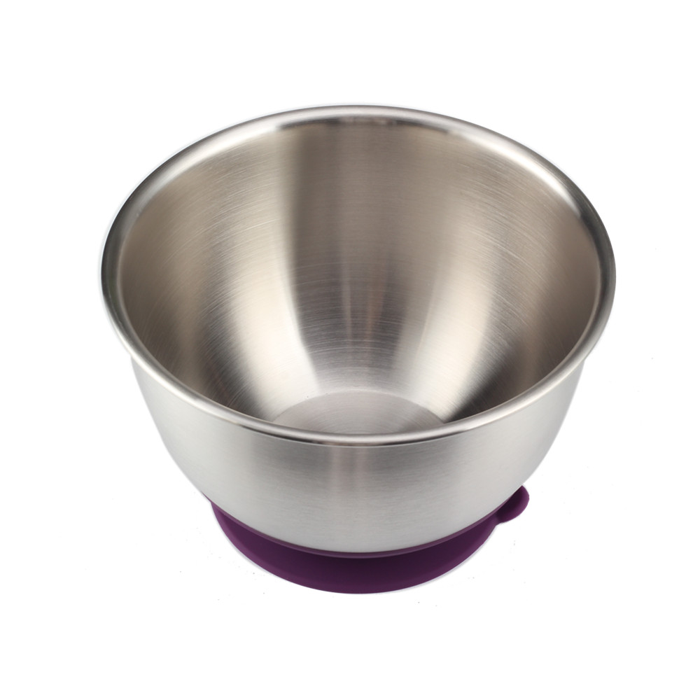 Purple Silicone Base Salad Bowl