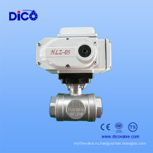 4-20mA электрический привод 3-ходовой шаровой кран с сертификатом Ce