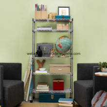 wOnline Hot Sale 5 Tier Silver Home Organizer Shelving