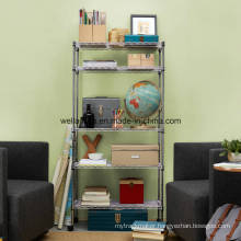 Adjustable 5 Tiers Home/Office Storage Chrome Steel Wire Rack Factory