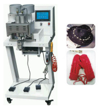 Cabezas dobles Cuatro dientes Ronda Pearl Attaching Machine