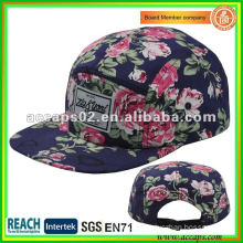 5-panel Snapback with Leather Patch SN-1151