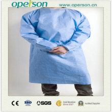 Non-tissé jetable / robe chirurgicale SMS avec une taille différente
