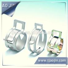 Braçadeira de mangueira de orelha personalizada de aço inoxidável, braçadeira de mangueira mini