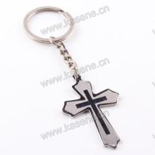 Wholesale Religious Saint Holy Stainless Steel Cross Pendant Fashion Keychain