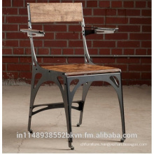 Iron Chair With Wooden seat