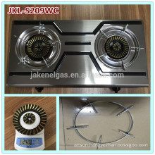 color ss 2 burner gas cooker stove