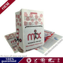 Custom Manufacturers Supply Disposable Microwave Popcorn Paper Bags