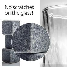 Set mit 9 grauen Getränke-Kühlsteinen [Chill Rocks] Whisky Stones für Whisky und andere Getränke