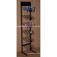 Metal Floor Standing Drinks Display Rack (PHY1057F)