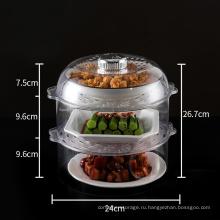 Пластиковая подставка для посуды с крышкой