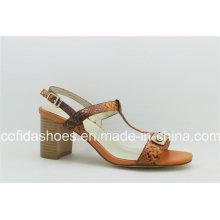 Latest Women′s Leisure Leather Fashion Lady Sandals