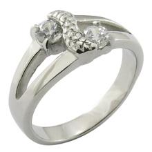 2015 Anel de Casamento de Ouro, Diamante 925 Anel de Prata Esterlina