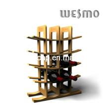 Porte-bagages en bambou à charbon multicouches