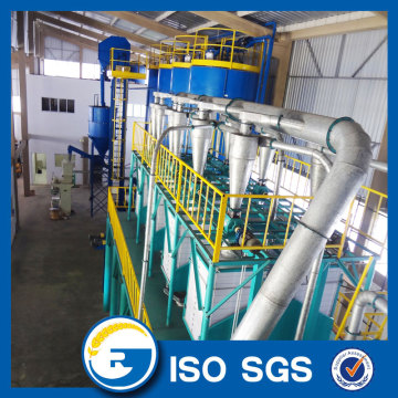 Grain milling machine for fine wheat flour
