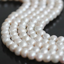11-12mm 3mm Big Hole Nearly Round Freshwater Pearl Strand E180008