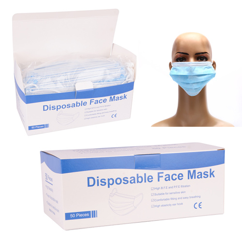 Masque facial jetable non tissé Fast Ship 3ply