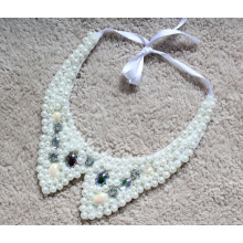 Woman Fashion Costume Jewelry Pearl Chunky Necklace Collar (JE0147)