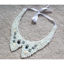Женщина мода костюм ювелирные изделия жемчуг коренастый воротник ожерелье (JE0147)